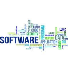 word cloud software vector image vector image