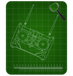 3d model of radio remote control on a green vector