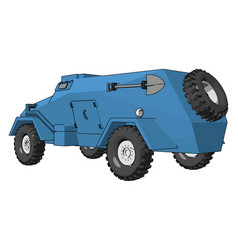 3d on white background a blue armoured vector