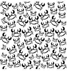 Abstract monochrome seamless coconut crab vector