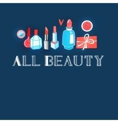 Advertising different makeup vector
