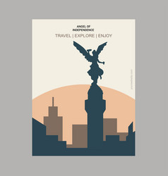 angel of independence mexico city mexico vintage vector image