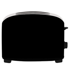 Black toaster vector image
