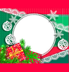 Bright congratulatory design christmas vector