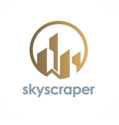 Building skyscraper logo vector