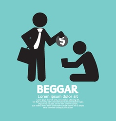 Businessman Donates Coin To The Beggar Illu vector