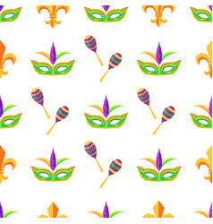 carnival attributes seamless pattern vector image