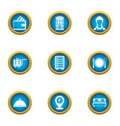Cash benefit icons set flat style vector