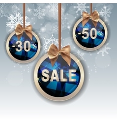 Christmas and New Year Sale Background Discount vector image