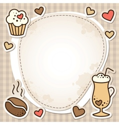 Coffee frame vector