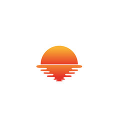 creative abstract sunset logo design symbol vector image