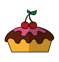 Delicious pie bakery product vector