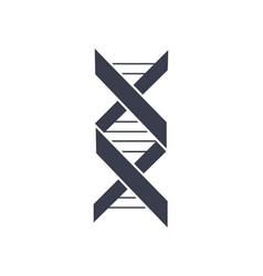 Dna deoxyribonucleic acid chain logo design icon vector