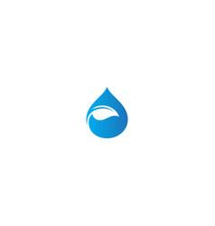 droplet leaf bio ecology logo vector image