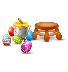 Easter eggs painting set vector