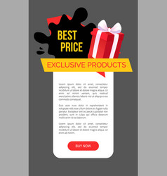 Exclusive products best choice and price in shop vector