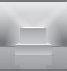 exhibition pedestal in 3d realistic form vector image