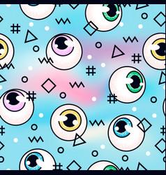 Eyeballs fashion pattern vector