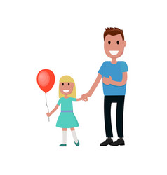 Father and daughter together character vector