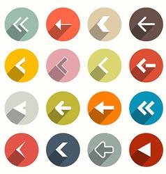 Flat Design Arrows Set in Circles vector image