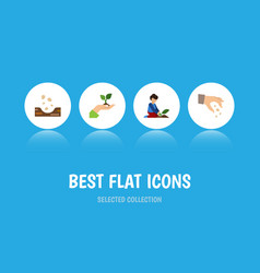 Flat icon seed set of sow florist care and other vector