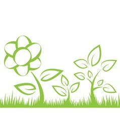 Flower grass vector