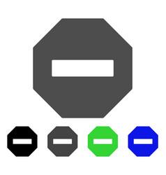 Forbidden octagon flat icon vector