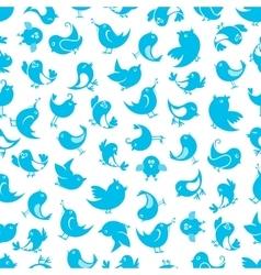 Funny little birds seamless pattern vector