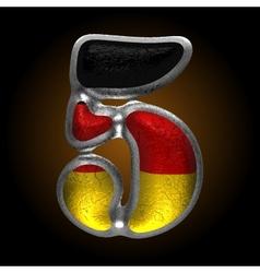 Germany metal figure 5 vector