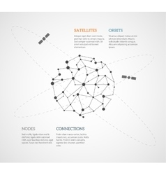 Global networking infographic vector