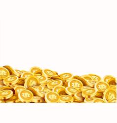 golden shiny coins big bunch old metal money vector image