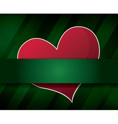 green abstract background with heart vector image