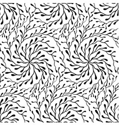 hand drawn doodle abstract black and white vector image