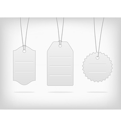 Hanging blank steel pricing tags vector