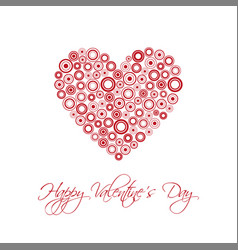 happy valentines day card with abstract heart vector image