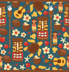 hawaii seamless pattern vector image