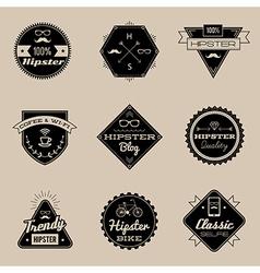 Hipster emblems brown vector