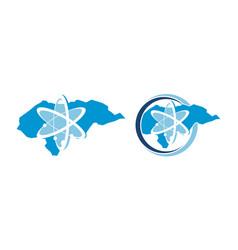 honduras technology atom set vector image