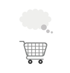 icon concept of shopping cart with thought bubble vector image