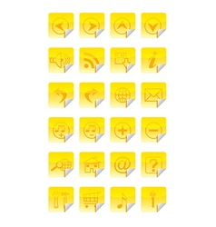 Internet icon social media icon set vector