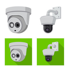 Isolated object cctv and camera logo vector