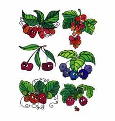 Living berries vector