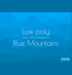 low poly cyan blue abstract background in the vector image