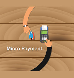Micro payment business with two business man pay vector
