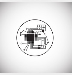 micro processor chip on white background vector image