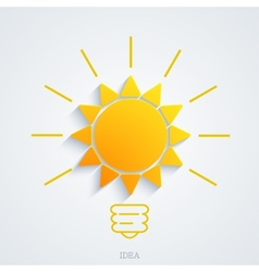 Modern idea with sun background vector