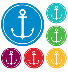 nautical anchor icon vector image