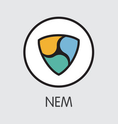 Neweconomymovement nem - cryptocurrency logo vector