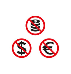No money sign on white background vector