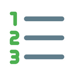 Number list format in acending sequence order vector